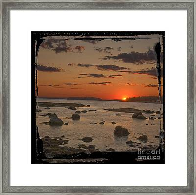 Maine Sunset Framed Print by Jim Wright