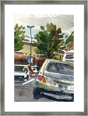 Mall Parking Framed Print by Donald Maier