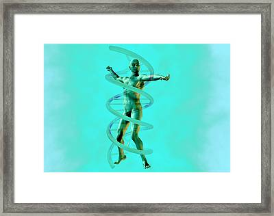Man And Dna Framed Print