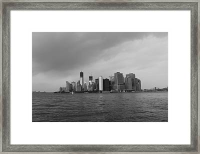 Manhattan Framed Print by Nina Mirhabibi