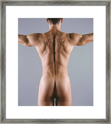 Man's Body Framed Print by Cristina Pedrazzini