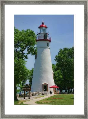 Framed Print featuring the photograph Marble Head Lighthouse by Joan Bertucci