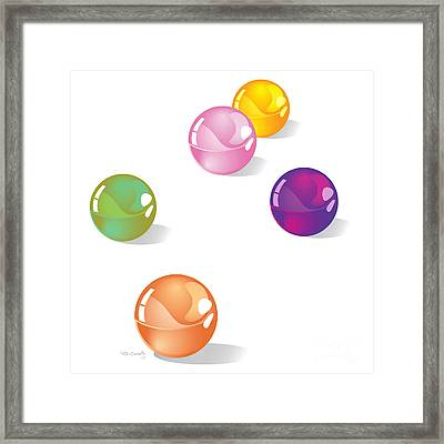 Marbles Framed Print by HD Connelly