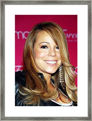 Mariah Carey In Attendance For Launch Framed Print by Everett