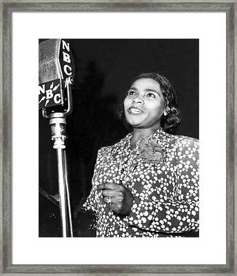 Marian Anderson, Contralto, Singing Framed Print