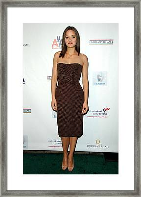 Marion Cotillard At Arrivals For 4th Framed Print by Everett