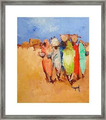 Market Day Framed Print by Negoud Dahab