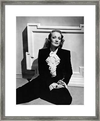 Marlene Dietrich, Ca. Early 1940s Framed Print