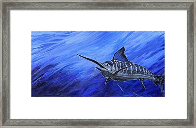 Framed Print featuring the painting Marlin by Jenn Cunningham