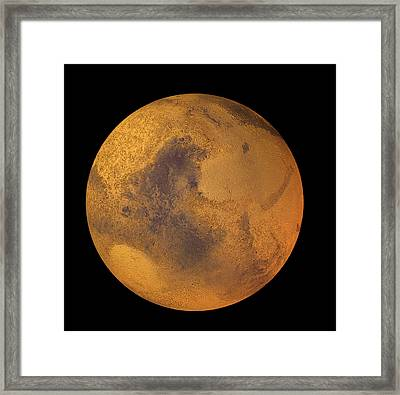Mars Framed Print by Friedrich Saurer