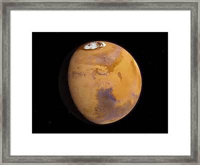Mars Framed Print by Joe Tucciarone