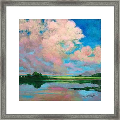 Marsh Clouds Framed Print