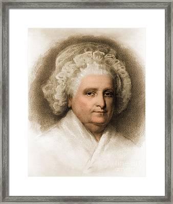 Martha Washington, American Patriot Framed Print