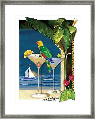 Martini Talk Framed Print