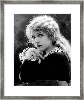 Mary Pickford, Ca. 1918 Framed Print