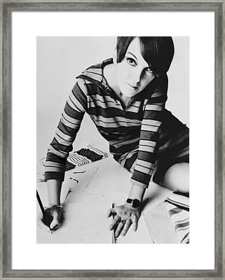 Mary Quant, British Mod Fashion Framed Print by Everett