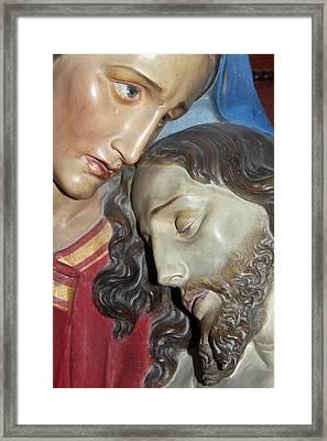 Mary Tears Framed Print by Munir Alawi