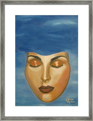 Mask Framed Print by Diana Riukas