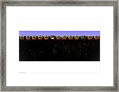 Framed Print featuring the photograph Mass Transit by Michael Nowotny