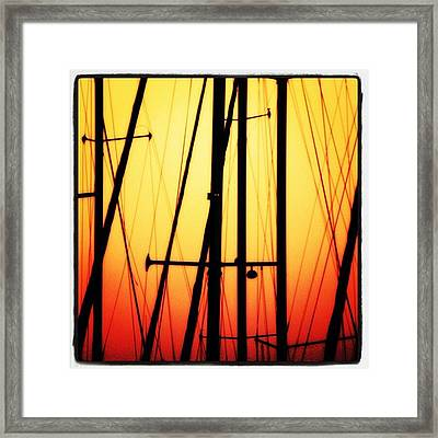 Master Sunset Framed Print
