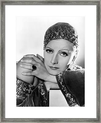 Mata Hari, Greta Garbo, Portrait Framed Print