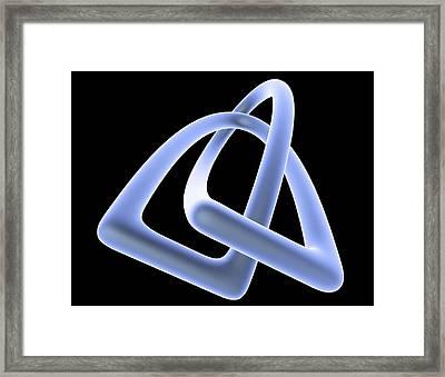 Mathematical Knot, Computer Artwork Framed Print