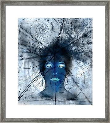 Mathematical Universe, Conceptual Artwork Framed Print