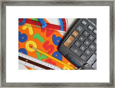 Mathematics Tools Framed Print by Photo Researchers Inc