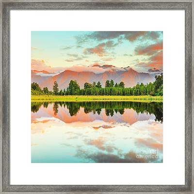 Matheson Lake Framed Print by MotHaiBaPhoto Prints