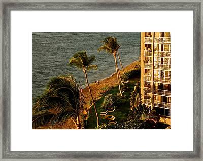 Maui Sunset Framed Print by Kirsten Giving