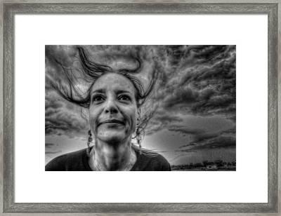 May-belle Chasing The Wind Framed Print