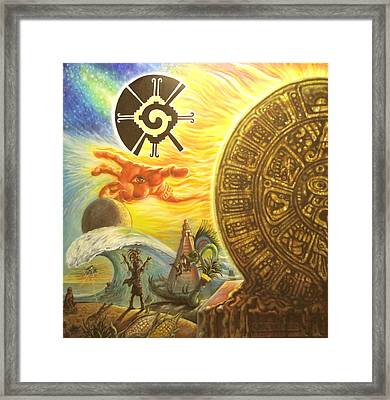 Mayan Predictions 2012 Framed Print by Joe Santana
