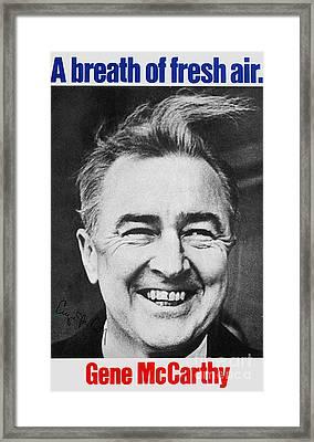 Mccarthy Campaign, 1968 Framed Print