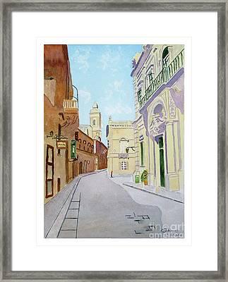 Mdina Streetscape Framed Print