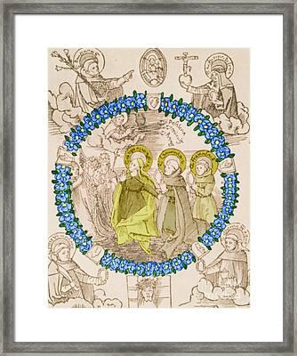 Medieval Plague Card Framed Print