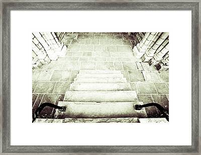 Medieval Staircase Framed Print by Tom Gowanlock