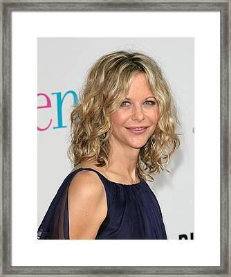 Meg Ryan At Arrivals For The Women Framed Print