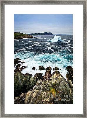 Melting Iceberg Framed Print by Elena Elisseeva