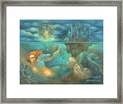 Melusina's Night Swim Framed Print by Marcia Snedecor