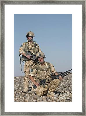 Members Of The British Army On Foot Framed Print by Andrew Chittock