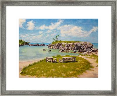 Memories Tobacco Bay Bermuda Framed Print