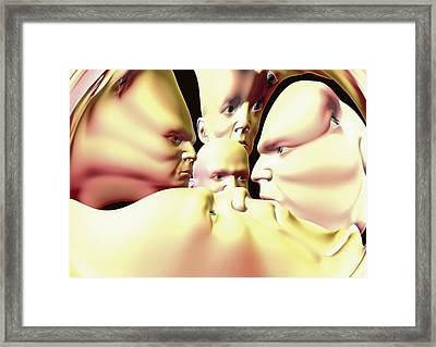 Mental Illness, Conceptual Artwork Framed Print by David Mack