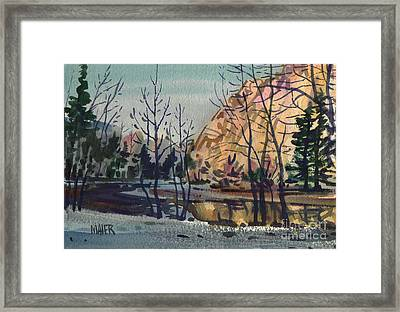 Merced River In Winter Framed Print by Donald Maier
