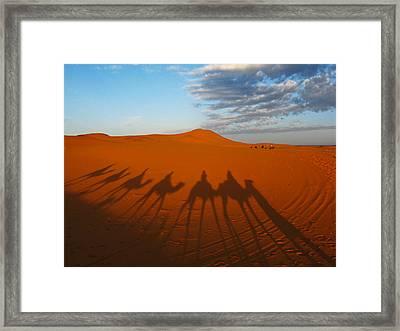 Merzouga Desert Morocco Framed Print by Ian Stevenson