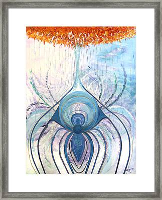 Messages From The Cosmos Framed Print by Judy M Watts-Rohanna