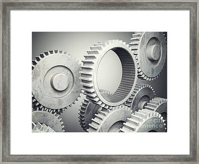 Metal Gear Framed Print by Gualtiero Boffi