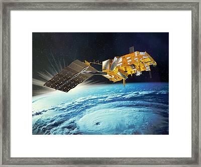 Metop Weather Satellite, Artwork Framed Print