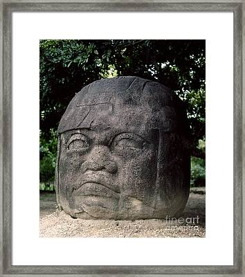 Mexico: Olmec Head Framed Print by Granger