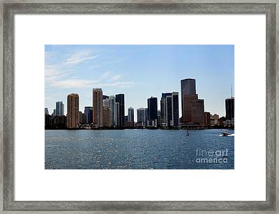 Framed Print featuring the photograph Miami Skyline by Pravine Chester