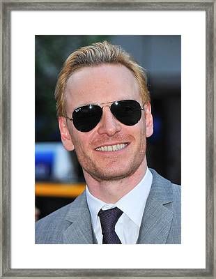 Michael Fassbender At Arrivals Framed Print